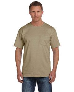 Khaki 5 oz., 100% Heavy Cotton HD® Pocket T-Shirt