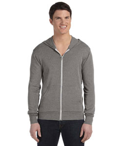 Grey Triblend Unisex Triblend Full-Zip Lightweight Hoodie