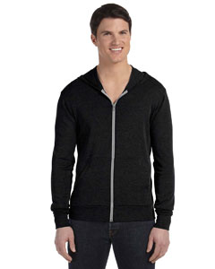 Black Triblend Unisex Triblend Full-Zip Lightweight Hoodie