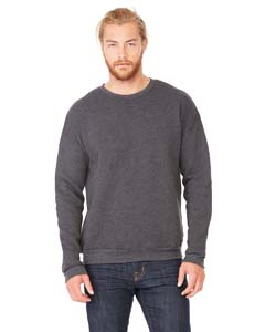 Dark Gry Heather Unisex Drop Shoulder Fleece
