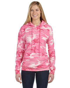 Pink Woodland Camouflage Pullover Hooded Sweatshirt