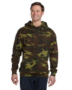 Green Woodland Camouflage Pullover Hooded Sweatshirt