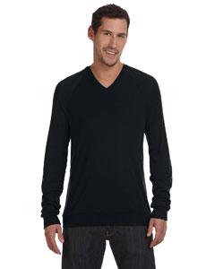 Black Unisex V-Neck Lightweight Sweater