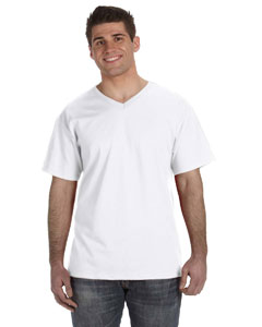 White 5 oz., 100% Heavy Cotton HD™ V-Neck T-Shirt