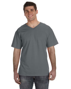 Charcoal Grey 5 oz., 100% Heavy Cotton HD™ V-Neck T-Shirt
