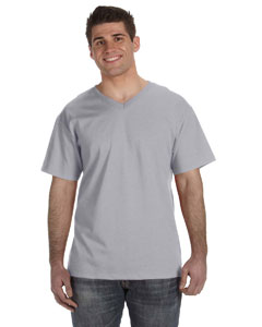Athletic Heather 5 oz., 100% Heavy Cotton HD™ V-Neck T-Shirt