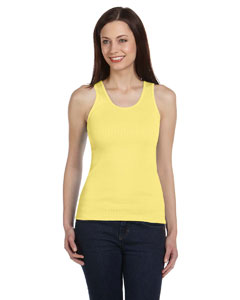 Yellow Women's 2x1 Rib Tank