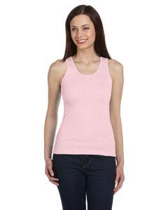 Soft Pink Women's 2x1 Rib Tank