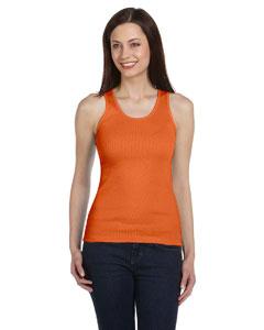 Orange Women's 2x1 Rib Tank