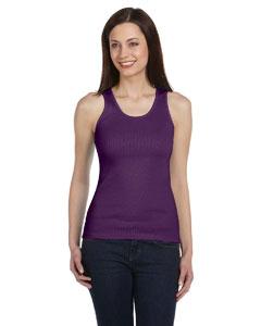 Purple Women's 2x1 Rib Tank