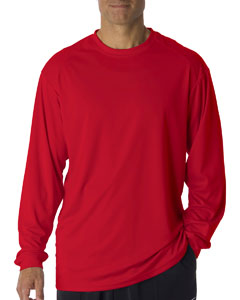 Red Adult B-Core Long-Sleeve Performance Tee