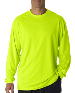 Safety Yellow Adult B-Core Long-Sleeve Performance Tee