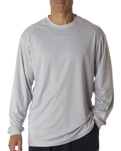 Silver Adult B-Core Long-Sleeve Performance Tee