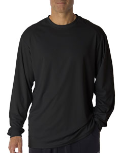 Black Adult B-Core Long-Sleeve Performance Tee