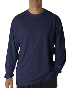 Navy Adult B-Core Long-Sleeve Performance Tee