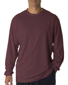 Maroon Adult B-Core Long-Sleeve Performance Tee