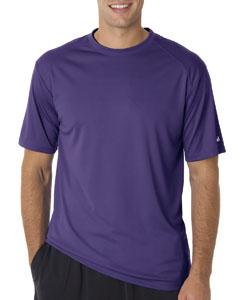Purple Adult B-Core Short-Sleeve Performance Tee