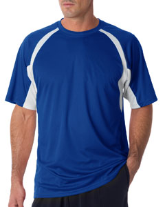 Royal/ White Adult Short-Sleeve 2-Tone Hook Tee