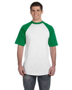 White/kelly 50/50 Short-Sleeve Raglan T-Shirt