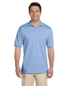Light Blue Men's 5.6 oz., 50/50 Jersey Polo with SpotShield™