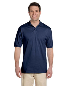 J Navy Men's 5.6 oz., 50/50 Jersey Polo with SpotShield™