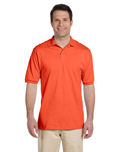 Burnt Orange Men's 5.6 oz., 50/50 Jersey Polo with SpotShield™