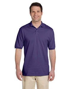 Deep Purple Men's 5.6 oz., 50/50 Jersey Polo with SpotShield™