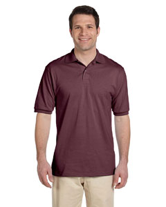 Maroon Men's 5.6 oz., 50/50 Jersey Polo with SpotShield™