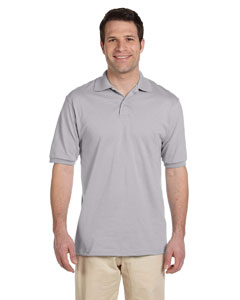 Silver Men's 5.6 oz., 50/50 Jersey Polo with SpotShield™