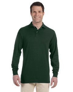 Forest Green 5.6 oz., 50/50 Long-Sleeve Jersey Polo with SpotShield™