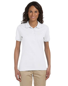 White Women's 5.6 oz., 50/50 Sport Shirt with SpotShield™