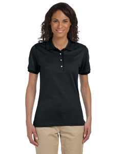Black Women's 5.6 oz., 50/50 Sport Shirt with SpotShield™