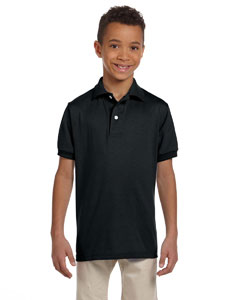Black Youth 5.6 oz., 50/50 Jersey Polo with SpotShield™