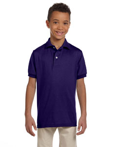 Deep Purple Youth 5.6 oz., 50/50 Jersey Polo with SpotShield™