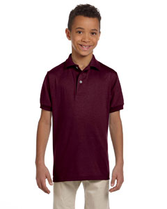 Maroon Youth 5.6 oz., 50/50 Jersey Polo with SpotShield™