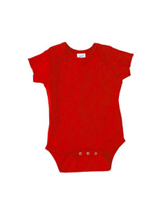 Red Infant 5 oz. Baby Rib Lap Shoulder Bodysuit