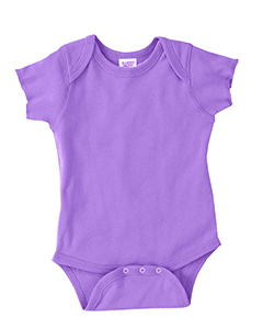 Lavender Infant 5 oz. Baby Rib Lap Shoulder Bodysuit