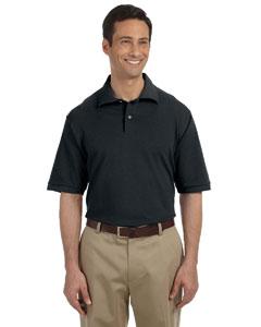 Black Men's 6.5 oz. Cotton Piqué Polo