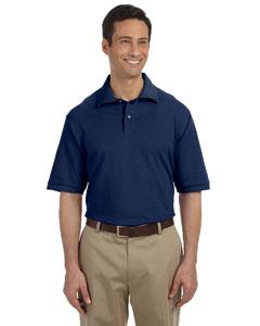 J Navy Men's 6.5 oz. Cotton Piqué Polo