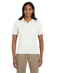 White Women's 6.5 oz. Cotton Piqué Polo