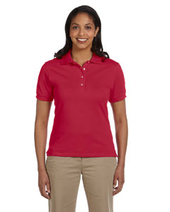 True Red Women's 6.5 oz. Cotton Piqué Polo