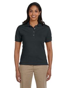 Black Women's 6.5 oz. Cotton Piqué Polo