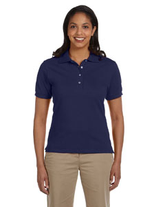 J Navy Women's 6.5 oz. Cotton Piqué Polo