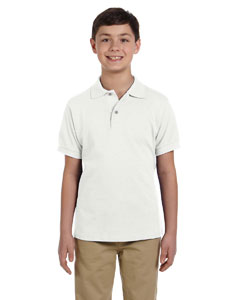 White Youth 6.5 oz. Ringspun Cotton Piqué Polo