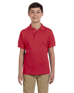 True Red Youth 6.5 oz. Ringspun Cotton Piqué Polo