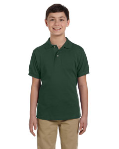 Forest Green Youth 6.5 oz. Ringspun Cotton Piqué Polo