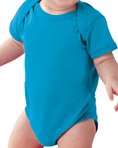 Cobalt Infant Fine Jersey Lap Shoulder Bodysuit