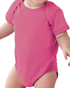 Raspberry Infant Fine Jersey Lap Shoulder Bodysuit