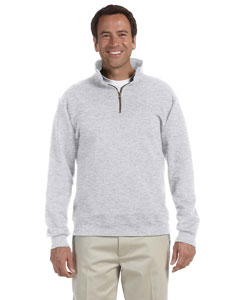 Ash 9.5 oz., 50/50 Super Sweats® NuBlend® Fleece Quarter-Zip Pullover