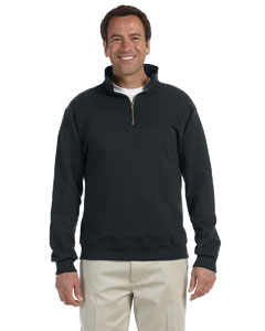 Black 9.5 oz., 50/50 Super Sweats® NuBlend® Fleece Quarter-Zip Pullover